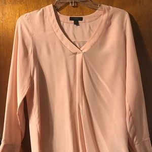 J.crew collection light pink silk blouse size 0 P